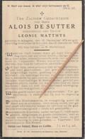 Adegem, Schoore, 1932, Alois De Sutter, Matthys - Santini