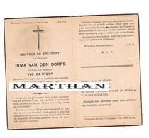 DOODSPRENTJE VAN DEN DORPE IRMA WEDUWE DE STOOP WORTEGEM OUDENAARDE 1874 - 1948 - Devotion Images