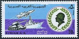 Syrie Syria 1980 Journée De L'armée Army Day Mikoyan-Gourevitch Mig 21 Fishbed (YT 616, Michel 1696, St Gibbons 1484 - Aerei