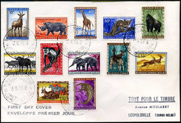 Belgisch Congo - FDC - 350/61 - 1947-60: Covers