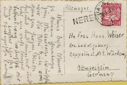 BR-9073  Provincie LIMBURG      NEREM  , Postkantoor HASSELT   Naar  DUITSLAND - Linear Postmarks