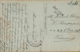 BR-9077  Provincie LIMBURG     Noodstempel ZOTLEEUW  LEAU  Verzonden Onder Service Militaire - Fortune Cancels (1919)