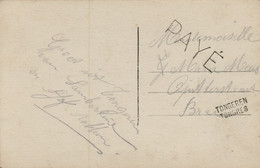 BR-9079  Provincie LIMBURG     Noodstempel TONGEREN/TONGRES      En Afstempeling PAYE - Fortune Cancels (1919)