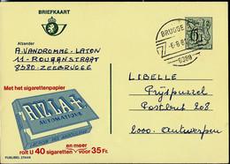 Publibel Obl. N° 2744 ( Papier à Cigarettes RIZ LA + ) Obl. BRUGGE - 5 - ( 8380 ) Du 06/08/81 - Publibels