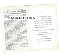 DOODSPRENTJE VAN DORPE GENTIEL ECHTGENOOT CAMPHYN BEVERE-OUDENAARDE PITTEM 1895 - 1974 - Devotion Images
