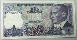 Billete Turquía. 1000 Liras. 1970. Original. MBC. - Turkey