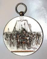 """Très Beau Médaillon """"Concours International De Gymnastique / Ville De Levallois-Perret / 29 Juillet 1894"""" Médaille - Professionals / Firms"""