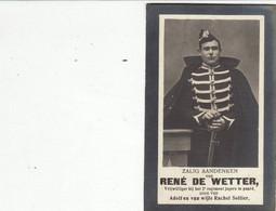 """Geeraardsbergen  """" Oorlog Gesneuvelde - 10 September  1914 Te Nieuwenrode  """" René  De Wetter- 1892 - 1914 Fotoprent - Imágenes Religiosas"""
