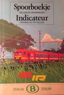 Spoorboekje Belgische Spoorwegen - Binnenlang - Indicateur - Chemins De Fer Belges - 1988-1989 - Treinen - Non Classés