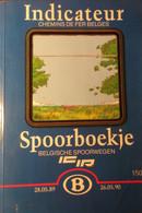 Spoorboekje Belgische Spoorwegen - Binnenlang - Indicateur - Chemins De Fer Belges - 1989-1990 - Treinen - Non Classés