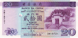 MACAU P.  96 20 P 1999 UNC - Macau
