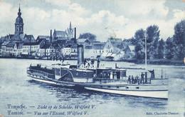 Temsche - Tamise - Zicht Op De Schelde Wilford V - Vue Sur L'Escaut - Carte Bleutée - Bastenaken