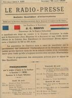 Période Jean Rapenne Gouverneur 1944.Cayenne.journal Le-Radio-Presse N° 238.J.C. Brons Gouverneur Guyane Hollandaise. - Altri