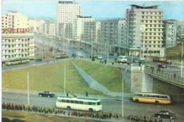 North Korea Corea - Pyongyang Street,bus UNUSED POSTCARD - Korea, North