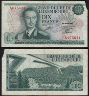 Luxemburg - Luxembourg 10 Francs Banknoten 1967 Pick 53 G (6)    (14923 - Luxemburg