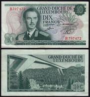 Luxemburg - Luxembourg 10 Francs Banknoten 1967 Pick 53 VF (3)    (14919 - Luxemburg