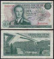 Luxemburg - Luxembourg 10 Francs Banknoten 1967 Pick 53 F (4)    (14917 - Luxemburg