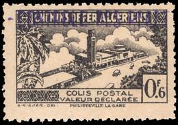 Algeria 1941-42 Controle Des Recettes 0f6 Black Unmounted Mint. - Parcel Post