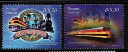 P622D - PANAMA - 2007 - SC#:934-935 - MH - PANAMA CANAL RAILWAY COMPANY, 150TH ANNIVERSARY - Panamá
