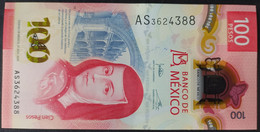 MEXICO 2020 $100 SOR JUANA + POLYMER NOTE + SERIES AS 31 Aug 2020 Jonathan Signature Rare Series & Date Mint Crisp - Mexico