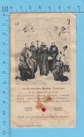 Image Reliquaire - St Martyrs Canadiens, Relique, Holy Card, Santini Pré-1930 - Religione & Esoterismo