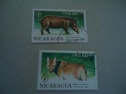 NICARAGUA USED  STAMPS ANIMALS FOX PORK - Nicaragua