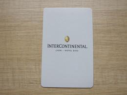 InterContinental Lyon-Hotel Dieu,paper Card - Chiavi Elettroniche Di Alberghi