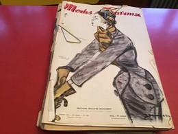 Modes Et Travaux  Broderie  1951 Création De Lanvin  EN L ÉTAT - Fashion