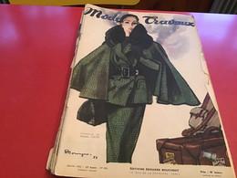 Modes Et Travaux  Broderie  1951 Création De Jacques Fath  Manque Des Pages - Fashion