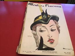 Modes Et Travaux  Broderie  1951 Création De Maud Et Nano Chanel - Fashion