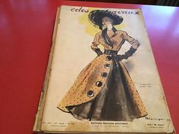 Modes Et Travaux  Broderie  1951 Création De  Jacques Fath Avec Le Patron - Fashion