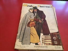 Modes Et Travaux  Broderie  1952 Publicité Création  Marcel Rochasse  Avec 2  Le Patron - Fashion