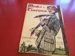 Modes Et Travaux  Broderie  1953  Publicité Création  Hermès Hermes   Avec  Le Patron Vespa Lambretta - Fashion