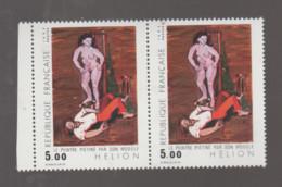 """FRANCE / 1984 / Y&T N° 2343 ** : """"Peintre Piétiné Par Son Modèle"""" (Jean Hélion) X 2 En Paire - Neufs"""