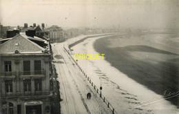 85 Les Sables D'Olonne, Carte Photo Du Remblai Sous La Neige, Beau Document, Phot. Amiaud - Sables D'Olonne