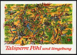 F3863 - TOP Hoppe - Pöhl Landkarte - Bild Und Heimat Reichenbach Qualitätskarte - Landkarten