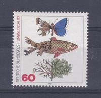 Allemagne RFA 1981 919 ** Protection De L'environnement Et De La Nature Désastres Engendrés Par La Pollution Papillon - Protezione Dell'Ambiente & Clima