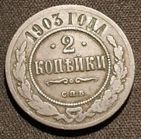 RUSSIE - RUSSIA - 2 KOPECKS 1903 С.П.Б. - KM 10.2 - КОПѢЕКЪ - Rusland