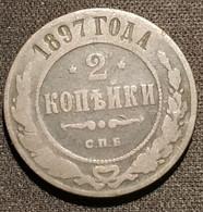 RUSSIE - RUSSIA - 2 KOPECKS 1897 С.П.Б. - KM 10.2 - КОПѢЕКЪ - ( Nikolai II - Birmingham Mint ) - Rusland