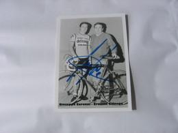 Cyclisme -  Autographe - Carte Signée Giuseppe Saronni - Cycling