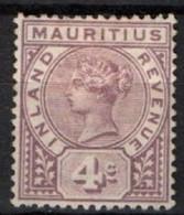 MAURITIUS, 1896, Fiscals Postage, SG. # R3 , Mint *. - Mauritius (...-1967)