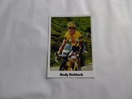 Cyclisme -  Autographe - Carte Signée Andy Schleck - Cycling
