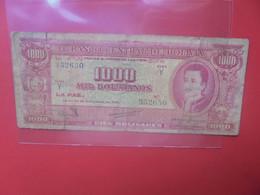 BOLIVIE 1000 BOLIVIANOS 1945 Circuler (B.24) - Bolivia