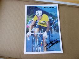 Cyclisme -  Autographe - Carte Signée Pascal Simon - Cycling
