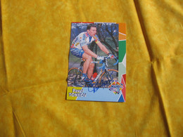 Cyclisme -  Autographe - Carte Signée Pavel Tonkov - Cycling