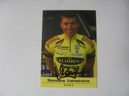 Cyclisme -  Autographe - Carte Signée Romans Vainsteins - Cycling