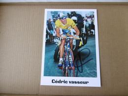 Cyclisme -  Autographe - Carte Signée Cédric Vasseur - Cycling