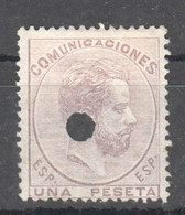 SP101 1872 SPAIN KING AMADEO I MICHEL #118 1ST USED - Gebraucht