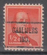 USA Precancel Vorausentwertungen Preos, Locals Indiana, Chalmers 721 - Préoblitérés