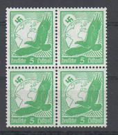 Deutsches Reich , Nr 529 X , Postfrischer Viererblock - Neufs